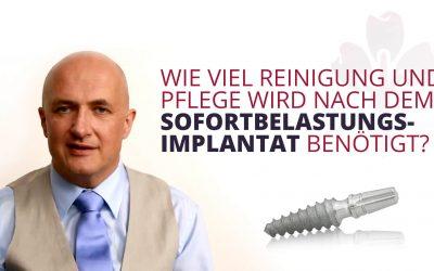 Zahnimplantat-Pflege
